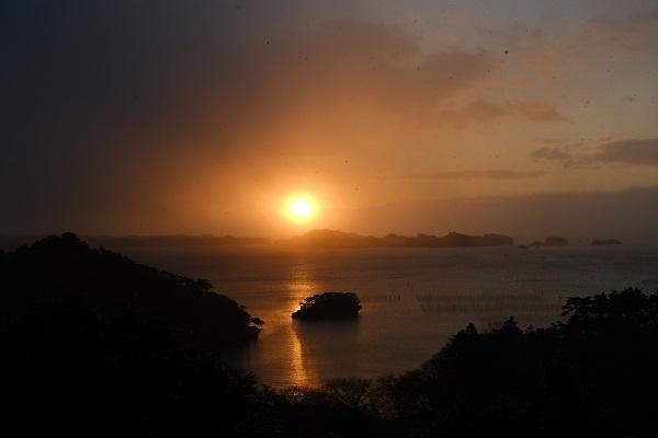 松島扇谷の初日の出の写真