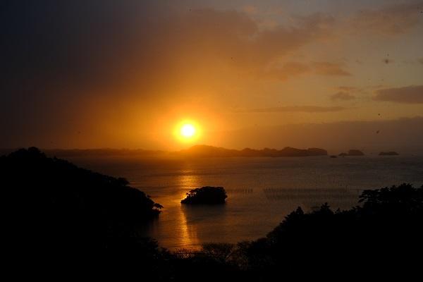 定年後の趣味写真松島の日の出の写真